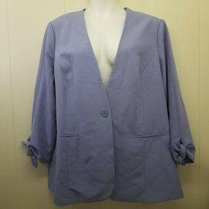 DG2 Diane Gilman 2X Purple Blazer Spring Jacket